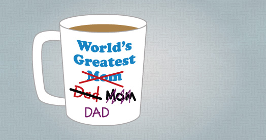 image of world's greatest mom, dad, mom, dad...